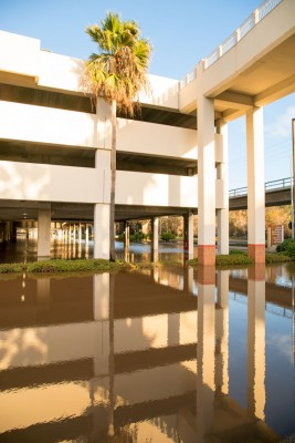Flooded Parking Structure